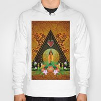 surfboard Hoodies featuring Surfboard with flowers  by nicky2342