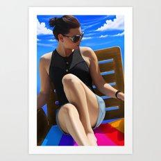 Blue Sun Art Print