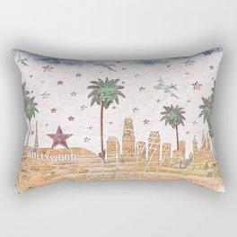 Los Angeles skyline vintage map Rectangular Pillow