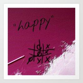 """""""happy"""" Art Print"""