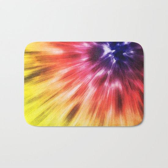 Colorful Starburst Tie Dye Bath Mat