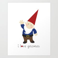 Gnome Love Art Print
