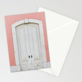 Old Pastel Door in Lisbon - Portugal Fine Art Travel Photography Stationery Cards