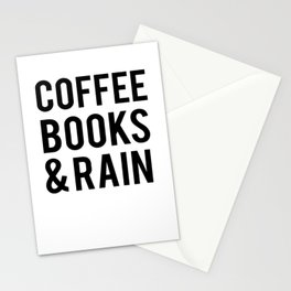 Coffee Books And Rain Stationery Cards