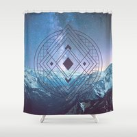 sacred geometry Shower Curtains featuring Sacred Geometry Universe 7 by Gaudy