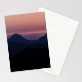 Sunset at Mount Rainier National park Stationery Cards