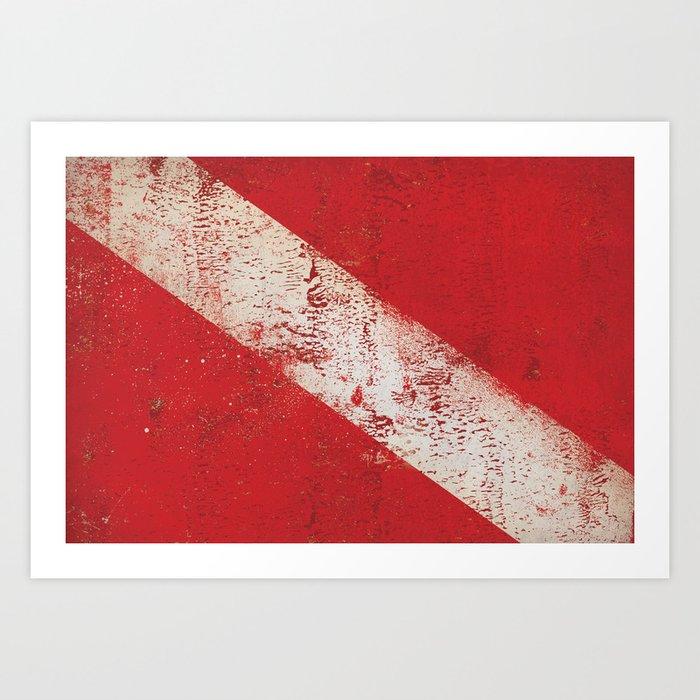 Scuba Diver Flag Kunstdrucke