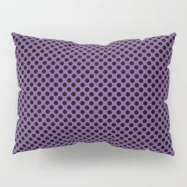 Royal Lilac and Black Polka Dots Pillow Sham