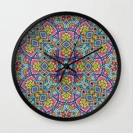 Persian kaleidoscopic Mosaic G515 Wall Clock