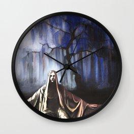 L'albero blu / The blue tree Wall Clock
