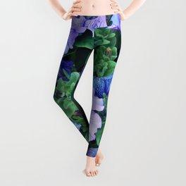 Purple Blue Petunias Leggings