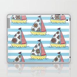 Sunny sailboats Laptop & iPad Skin