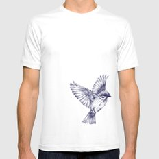 lost bird White Mens Fitted Tee MEDIUM