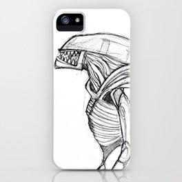 ALIEN3 SKETCH iPhone Case