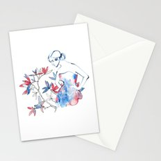 bonjour mademoiselle Stationery Cards