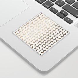 Golden Zigzag Sticker