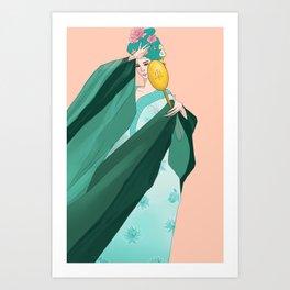 Sailor Senshi Hanfu: Neptune Art Print
