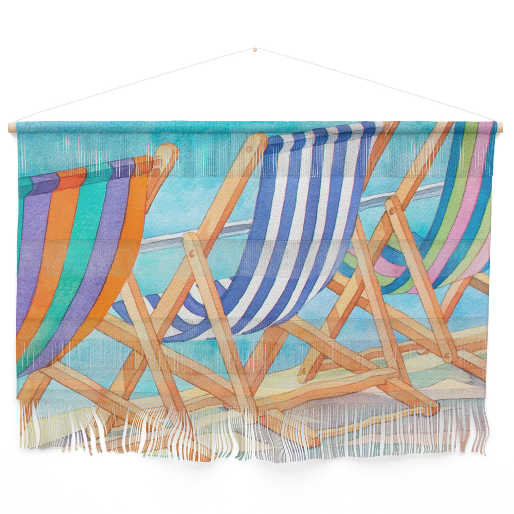 Beach Chairs 1 Wall Hanging by julistyle