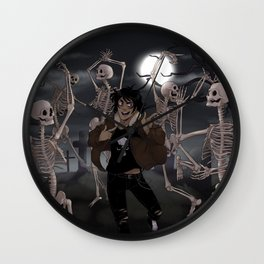 Spooky Scary Skeletons Wall Clock