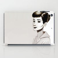 hepburn iPad Cases featuring Hepburn by animatorlu