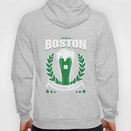 Boston Drinking Team Green Beer Cool St Patricks Day Hoody