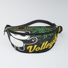 Panda Bear Volleyball Sport Game Gift Fanny Pack