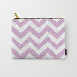 Pink lavender - violet color - Zigzag Chevron Pattern Carry-All Pouch