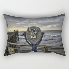 Optical Binoculars at Oceanside Pier Rectangular Pillow