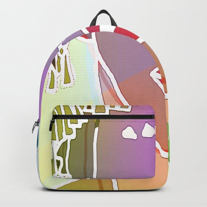 Ebony Purple Headdress White Backpack