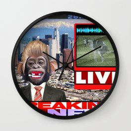 LIVE BREAKING NEWS Wall Clock