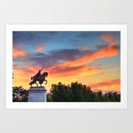 St. Louis Statue Art Print
