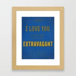 Extravagant Dreams Framed Art Print