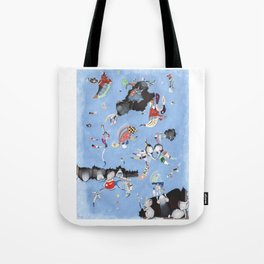 Mice eat a Kandinsky Tote Bag