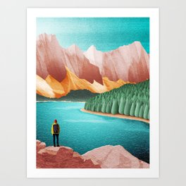 DREAM VACATION / Alberta, Canada Art Print