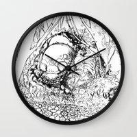jungle Wall Clocks featuring Jungle by Tayfun Sezer