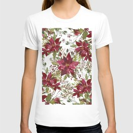 Poinsettia Flowers T-shirt