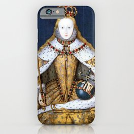 Queen Elizabeth I of England in Her Coronation Robe iPhone Case