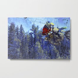 Motocross Dirt-Bike Championship Race Metal Print