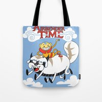 appa Tote Bags featuring Airbender Time by Kari Fry