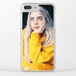 Billie Eilish Yellow Jacket Clear iPhone Case
