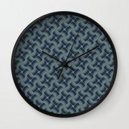 Decorative Seafoam Blue Grey Pin Wheel Pattern Wall Clock
