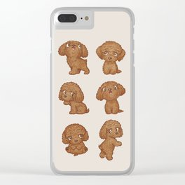 Toy-Poodle of various poses Clear iPhone Case