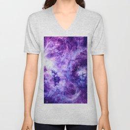 Purple Lavender Gold Tarantula Nebula Unisex V-Neck