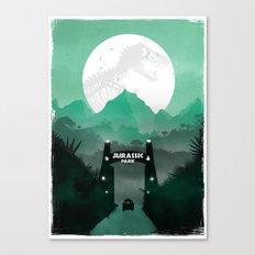 Jurassic Park Inspired Minimalist Print  Canvas Print