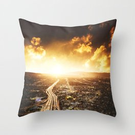 highway in los angeles Throw Pillow