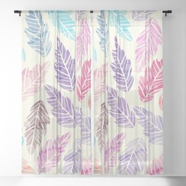 Colorful leaves Sheer Curtain