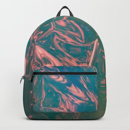 Abstract flamingo - pink, blue and green - Backpack