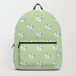 Derp Cat in Green Backpack
