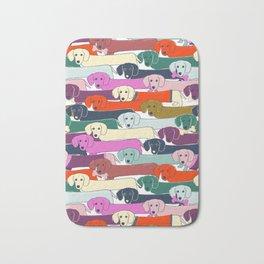 colored doggie pattern Bath Mat