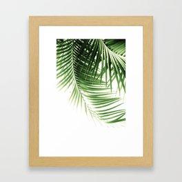 Palm Leaves Green Vibes #9 #tropical #decor #art #society6 Framed Art Print